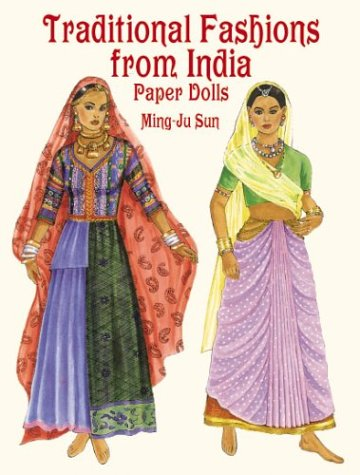 Traditional Fashions from India : Paper Dolls par  Ming-Ju Sun