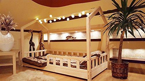 House Bett mit Barrieren, Kinder Haus, Bett für Kinder, Kinder Bett, Home Bett, Barriers: With, 200 x 160 cm
