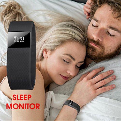 SCONTO-su-NAKOSITE-FT2433-Miglior-Orologio-Fitness-Activity-Tracker-Pedometro-Conta-Passi-Conta-Calorie-Distanza-Monitor-Sonno-Orologio-Sport-Bluetooth-40-per-Android-44-o-IOS-71-superiore-PI-SMS-ID-C