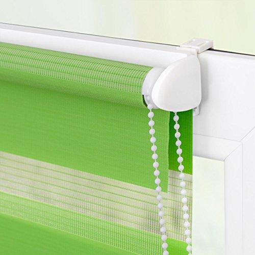 Lichtblick Duo-Rollo Klemmfix, 60 cm x 150 cm (B x L) in Grün, ohne Bohren, Doppelrollo für Fenster & Türen, moderner Sichtschutz, innovative Kombination aus Rollo & Jalousie - 4