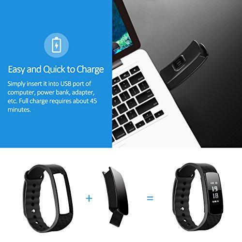 Mpow Fitness Tracker mit Pulsmesser Bluetooth 4.0 Smart-Herzfrequenz Monitor Schrittzähler Schlafanalyse Aktivitätstracker Kalorienzähler Schlaftracker für Android und iOS Smart Phones. - 6