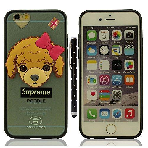 """Custodia Case per iPhone 6S Plus / 6 Plus 5.5"""", Piccolo Cane Aspetto Serie Vari Dog Trasparente Chiaro Cover Molto magro + 1 Penna stilografica - BEAGLE A6"""