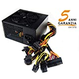 Tecnoware Alimentatore per PC Game Core HE 750 W 80+, PFC Attivo, Ventola 12 cm, 6 x SATA, 4 x PCI-E 6+2, 1 x 24 Poli, 1 x 12 V 4+4 Poli, 3 x Molex, 1 x Floppy