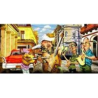 Habanas by Band Alvez, A.-Perez, A.-Stampa su tela in carta e decorazioni disponibili, Tela, SMALL (25.5 x 13 Inches )