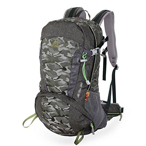 HWLXBB Outdoor Bergsteigen Paket Männer und Frauen 30L Wasserdichte Mehrzweck-Bergsteigen Tasche Wandern Camping Bergsteigen Rucksack 8*