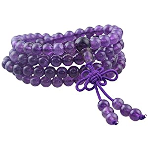 Shanxing 108 Perlen Edelstein Yoga Armband Schmuck Buddha Buddhistische Tibetische Gebetskette Mala Kette Halskette