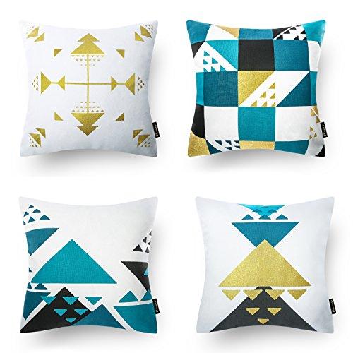 Phantoscope Dekorative New Geometric Series Dekokissen Fall Kissenbezug Geometric Blue & Gold Serie Fall