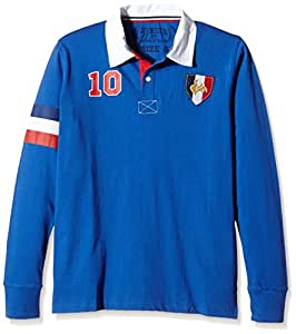 France Supporter Polo manches longues Homme Royal FR : S (Taille Fabricant : S)