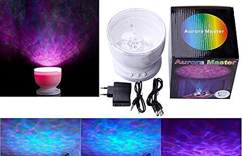 Angin-Tech Ocean Waves Lumière du Pprojecteur Multi-Couleur Romantique 12 LED