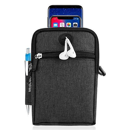 MojiDecor Hüfttasche Handytasche Bauchtasche Gürteltasche Taillepäckchen Handyhülle mit Gürtel Schlaufe für Smart Phones bis 6,3 inch iphone 7s plus/iphone 6/S6