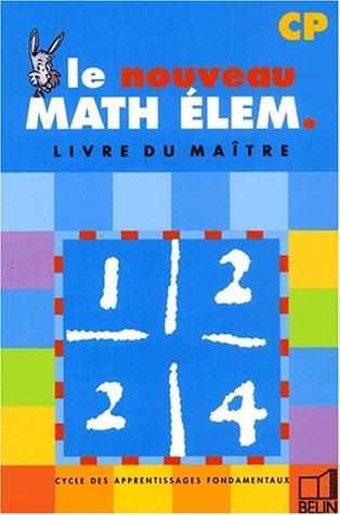 Math élem. : CP (livre du maître)