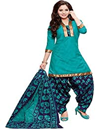 83ac562ef8 REYA Women's Crepe Printed Unstitched Salwar Suit Dress Material(Crp_5004_  Green_Free Size)