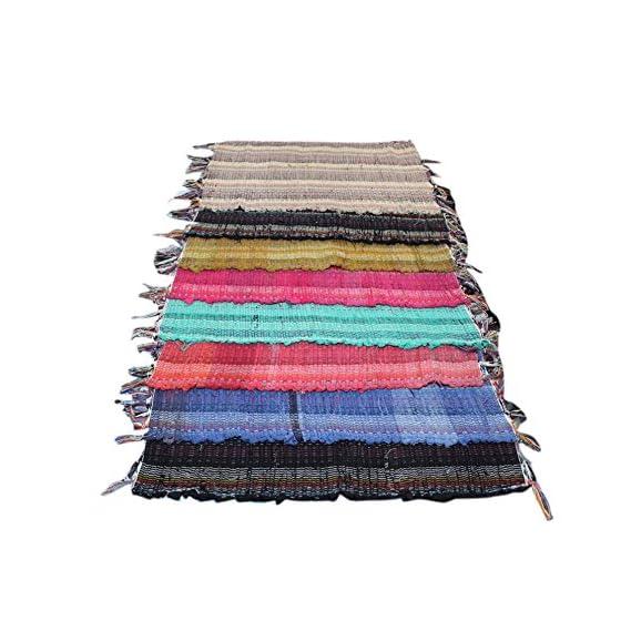Online Quality Store Cotton 16x24-inch Unique Door Mats (Multicolour) - Set of 8