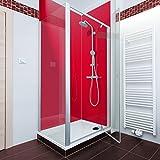 Flame rot farbige Acryl Dusche Panel. Einzigartige Hard Gloss Coated lang Life Finish. Einfach zu reinigen. 2050mm x alle Duschtasse breiten, acryl, Feuerrot, 1000mm X 2050mm