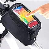 Minkle® Fahrrad-wasserdichte Handy Halterung Halter Lenker Fahrrad-Fahrrad-Frontseiten-Schlauch-Beutel-Kasten-Screen-Halter für 4,8 bis 5,5