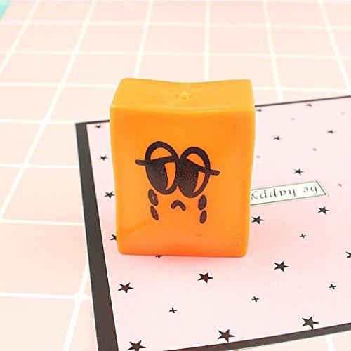 Republe Pastel de tofu blando cara de la sonrisa Sueeze juguete del regalo del cabrito Pan antiestrés broma del friki Alivio Gadget