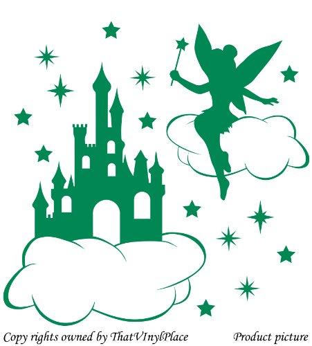 Fatina, castello, Nuvole e Stelle Wall Sticker