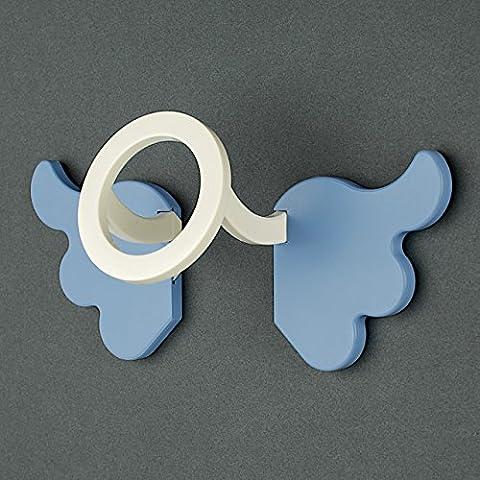 """Colgador """"Angel"""" de KREALL. Colgador azul en plastico. Desarrollo y producción"""