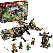 LEGO 71736 NINJAGO Coles Felsenbrecher Flugzeugspielzeug mit Gefängnis und sammelbarer Figur des Goldenen Ninj