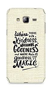 AMEZ where there is kindness there is goodness Back Cover For Samsung Galaxy J3 (2016 EDITION)