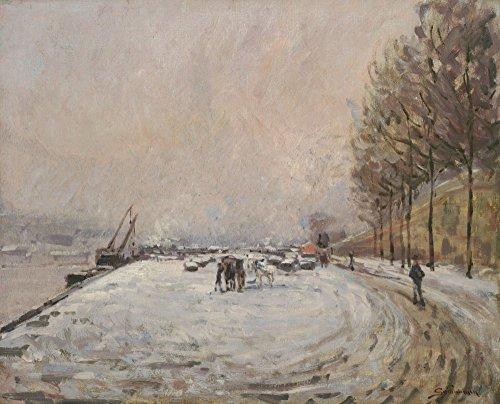 Das Museum Outlet-Die Quay von Saint-Bernard (unter der Schnee, 1882-Leinwand (61x 81,3cm)