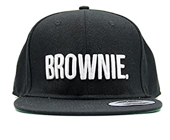 f7fdead9b8c9df ASVP Shop® 5-Panel Snapback Cap with Embroidered 'Brownie' Lettering Flat  Peak
