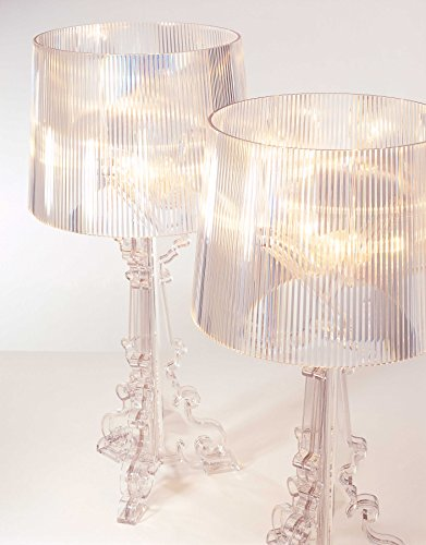 Kartell Bourgie Table Lamp, polycarbonate, crystal, Ø37cm H: 68÷78 cm, E14