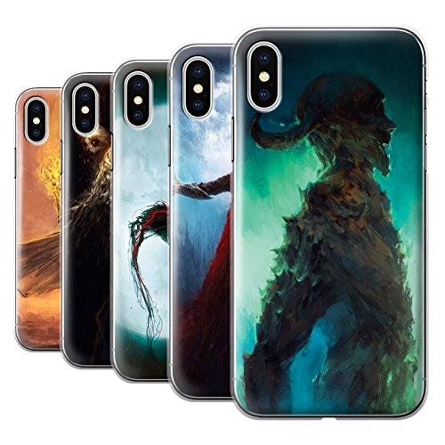 Offiziell Chris Cold Hülle / Case für Apple iPhone X/10 / Kriegsheld/Warlock Muster / Dämonisches Tier Kollektion Pack 6pcs