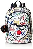 Kipling HEART BACKPACK Zainetto per bambini, 32 cm, 9 liters, Multicolore (Doodle Play Bl)