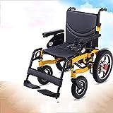 Elektro-Rollstuhl, Bequemer Elektro-Stehrollstuhl Mit Elektromagneten Bremse, Elektrorollstuhl Stand Up (Gelb)