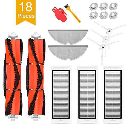 Ersatzteile für Xiaomi Staubsauger, solawill 18 Teilig Zubehör für Xiaomi Roborock S50 S55 S6 Saugroboter Ersatzteile für XIAOMI MI Roboter Vacuum