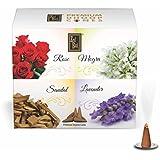Zed Black Dhoop Cones Boxes (Rose, Mogra, Sandal and Lavender) - Pack of 12