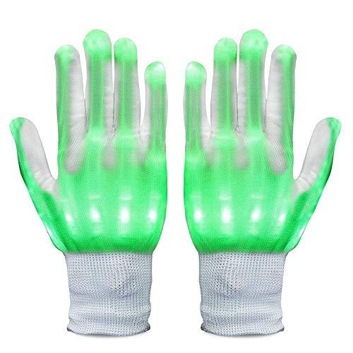 Allbesta LED Leuchtende Handschuhe Bunte Licht Beleuchtung für Party Tanzen Halloween Weihnacht Karneval Geburtstag Coole Spielzeuge (Tanzen Kostüm Für Jungen)
