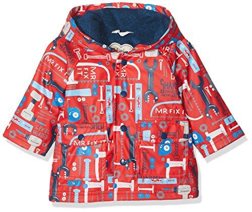 Hatley Mini Printed Raincoat Manteau imperméable, Rouge (Mr. Fix It 600), 12-18 Mois Bébé garçon