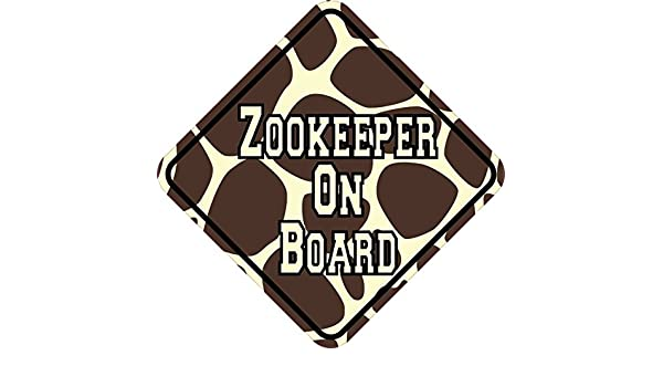 Stickertalk 5in x 5in giraffe print zookeeper on board sticker amazon co uk car motorbike