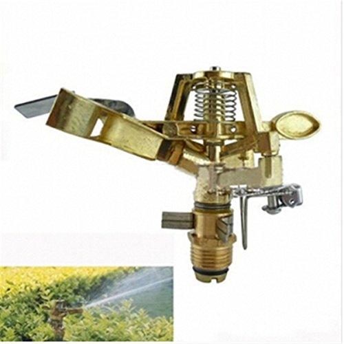 Alliage Brass-toned 1/5,1 cm à bascule Angle de bras rotatif multijets contrôlable l'agriculture en cuivre Connecteur d'irrigation Arroseur ^