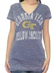 NCAA Georgia Tech Yellow Jackets femmes T-Shirt (Vintage Look)