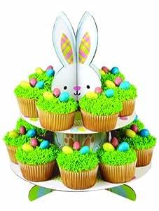 Wilton Présentoir à cupcakes spécial fêtes de pâques Motif Lapin et œufs de pâques