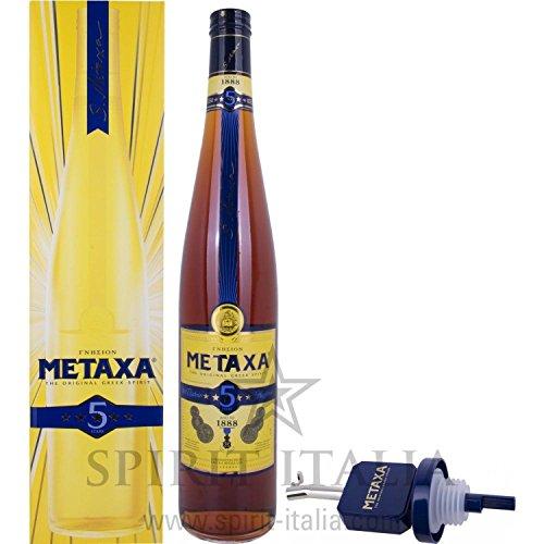 Metaxa 5 Stern mit FlaschenausgieÃ?er GB 38,00% 3 l.
