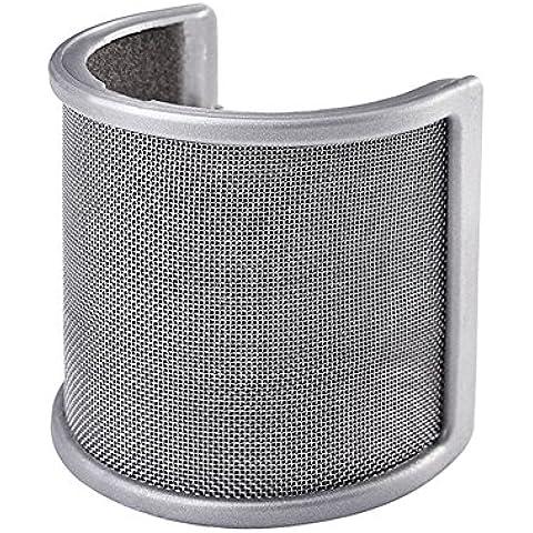 Mudder Microfono Anti-vento Filtro Pop Parabrezza con Strato Schiuma per Studio Registrazione - Schiuma Microfono Parabrezza