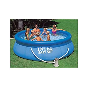 Intex Easy Set – Piscina con Bomba de Filtro, 396 x 84 cm