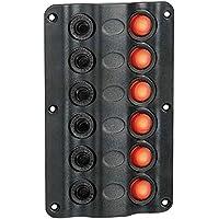 Osculati 14.104.02 - Pannello elettrico Wave 6 interruttori (Wave electric control panel 6 switches)