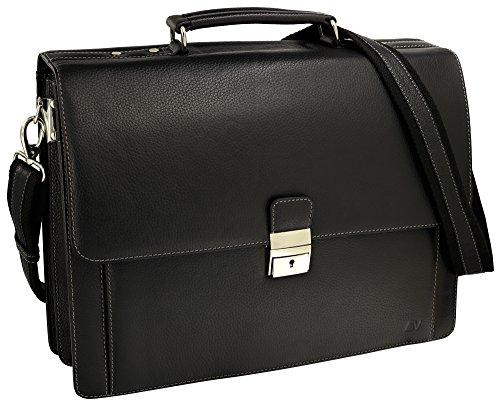 Leder Business Aktentasche (Fa.Volmer® Herren Echt-Leder Business-Tasche für Notebook #Bag16208)