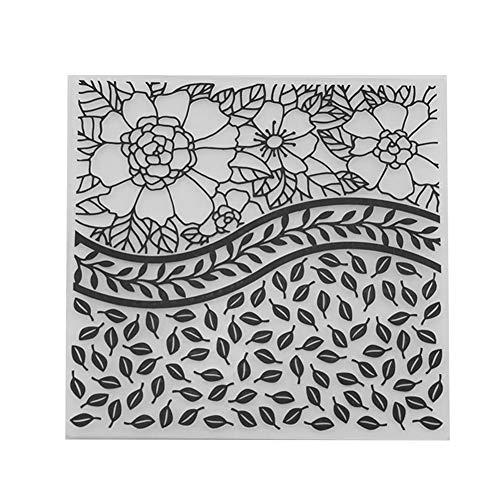 Broadroot Geometrische Form Gedruckt DIY Scrapbooking Kunststoff Präge vorlage Ordner Schablone für Album Karten Fondant Deko Werkzeuge (05) (Geometrische Ordner)