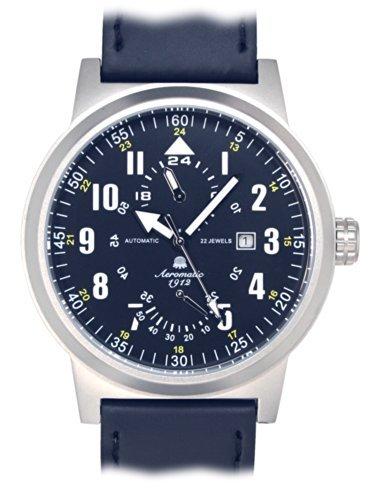 Aeromatic 1912 A1416 - Reloj , correa de cuero color negro