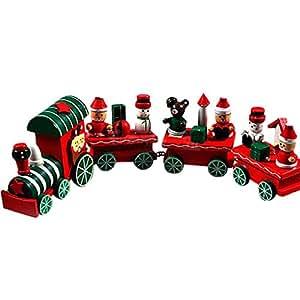 Baby Spielzeug,Anglewolf 4 Stück Holz Weihnachten ...