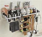 JXXDDQ Scaffale della Cucina dell'Acciaio Inossidabile/scaffale della Spezia della Parete/scaffale di stoccaggio/Blocchetto del Coltello/organizzatore della mensola della Cucina
