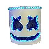 unbrand Halloween Marshmello DJ Máscara LED Full Head Casco Adulto Cosplay Bar Props Music Fancy Dress