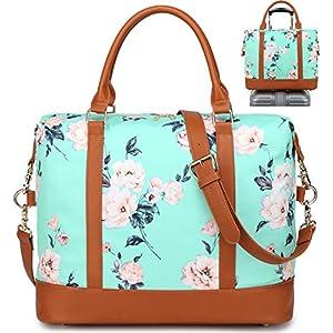 519QL43SihL. SS300  - Bolso de Viaje Mujer de Mano Impermeable Bolso de Compras Grande Bolsa de Deporte Duffle Bag con Puerto USB para…