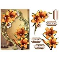 Maravilloso lirio dorado en marco dorado por Anne Lever